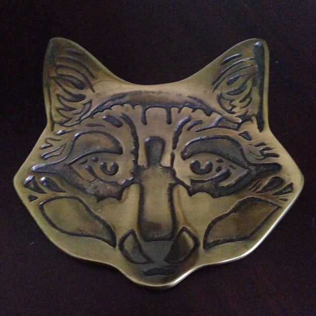 Vintage Brass Fox Catch All Tray - Image 2 of 11