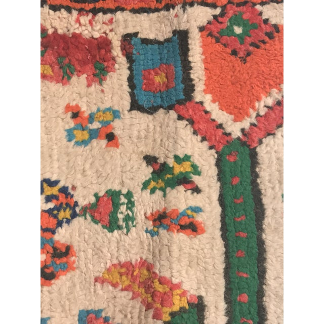 Stuffed Vintage 100% Moroccan Rug Wool Pillow Made in Marrakesh - Image 3 of 11