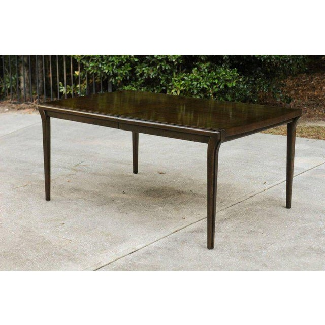 Brown Supremely Elegant Mahogany Extension Dining Table by Widdicomb, circa 1970 For Sale - Image 8 of 11
