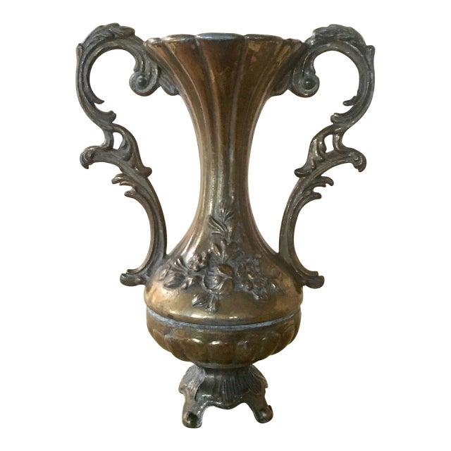 Italian Engraved Metal Bud Vase - Image 1 of 5