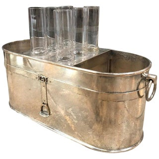 Gucci Vintage Ice Bucket With Glasses - 7 Pc. Set For Sale