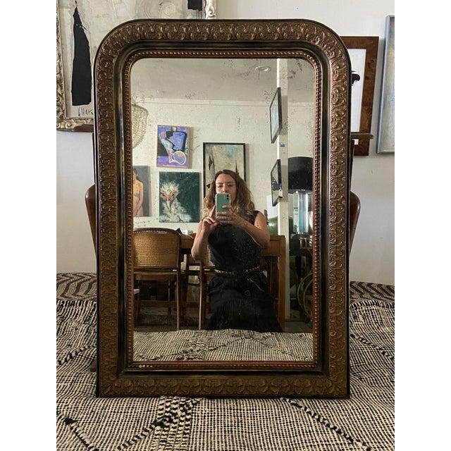 Wood Louis Phillip Gold Leaf Antique Mirror For Sale - Image 7 of 7