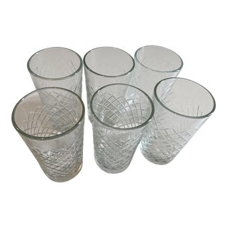 Early 21st Century Vintage Cut Glass Vases - Set of 6 For Sale