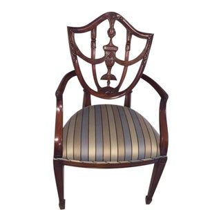 Maitland Smith Mahogany Shield Accent Chair
