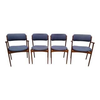 Vintage Erik Buch for Mobler Teak Dining Chairs - Set of 4