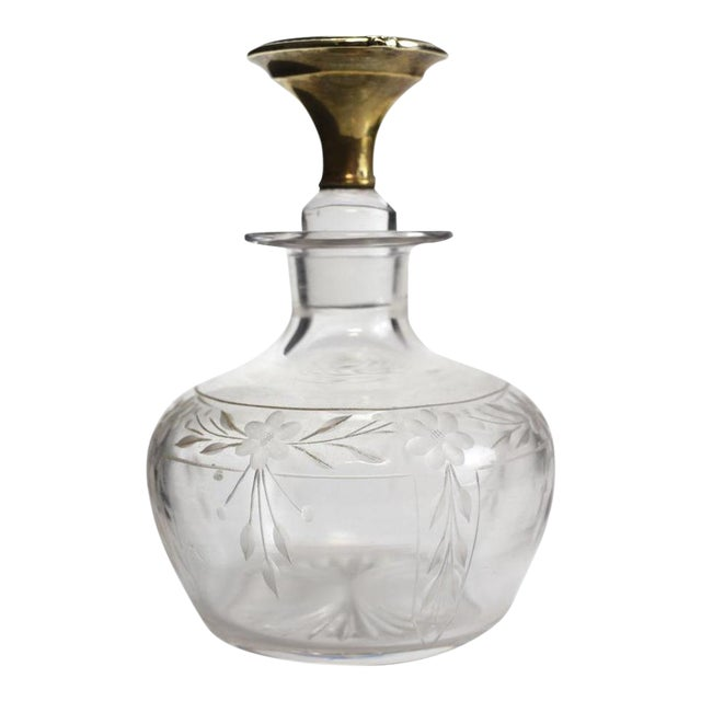 1925 The McChesney Co. 14k Yellow Gold & Etched Glass Perfume Bottle - Image 1 of 8
