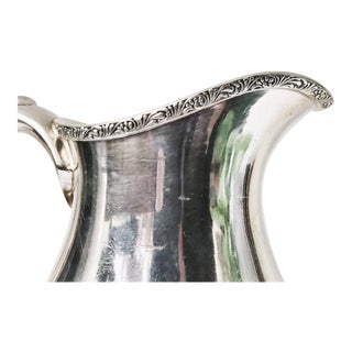 1916 Silver Plated Water Pitcher From Lehigh Valley Railroad For Sale