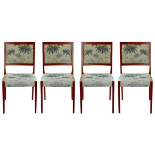 Svegards Markaryd Palm Tree Fabric Dining Chairs - Set of 4