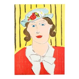 Henri Matisse-Femme au Chapeau-1939 Mourlot Lithograph For Sale