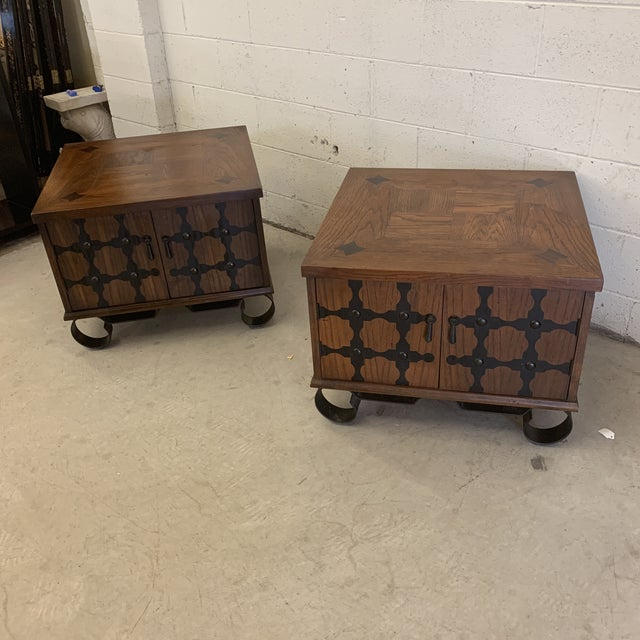 Lane Furniture Lane Mid Century Spanish Style End Tables For Sale - Image 4 of 13