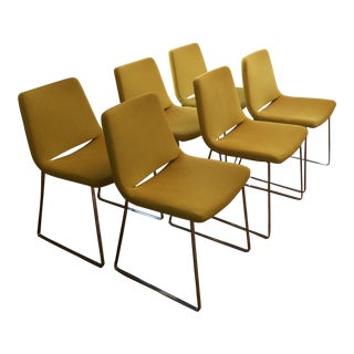 Modern Bb Italia Steel Base Metropolitan Dining Chairs- Set of 6 For Sale