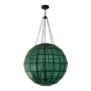 """Seaside Pendant in Green Glass by Clate Grunden 30"""" For Sale"""