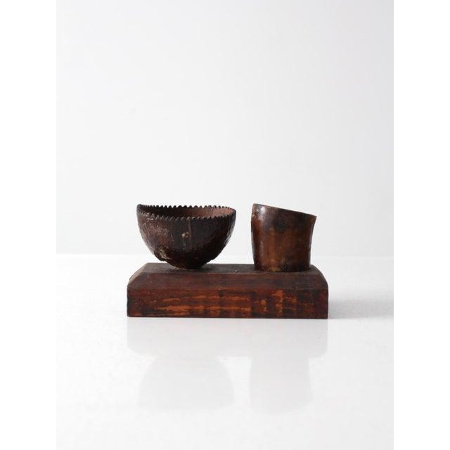 Brown Vintage Folk Art Display For Sale - Image 8 of 8