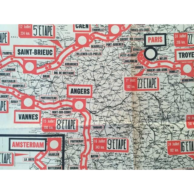 1954 Vintage French Tour De France Map - Image 4 of 6