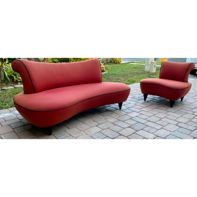 1950s Cloud Sofa in the Style of Adrian Pearsall Peanut Shape - 2 Pieces For Sale - Image 12 of 12
