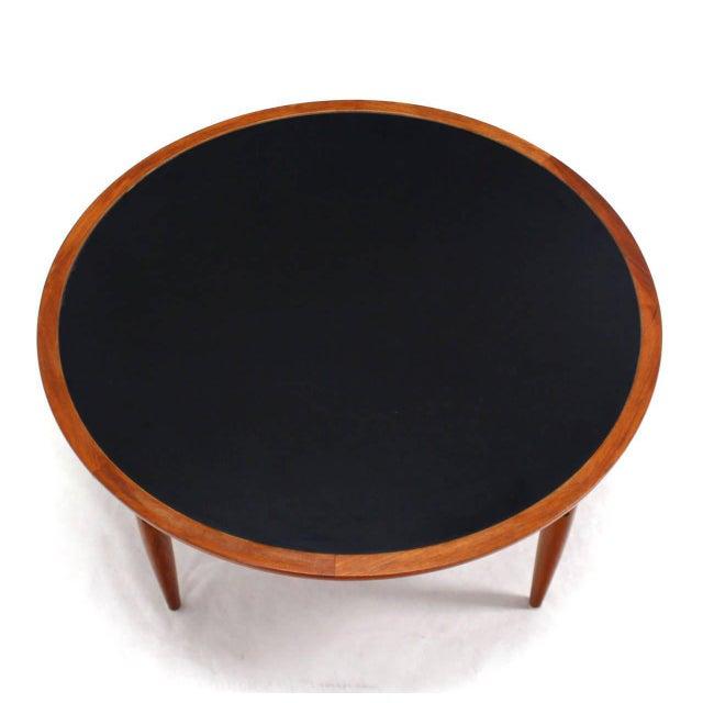 Reversible Flip-Top Danish Modern Round Teak Coffee Table For Sale - Image 9 of 9