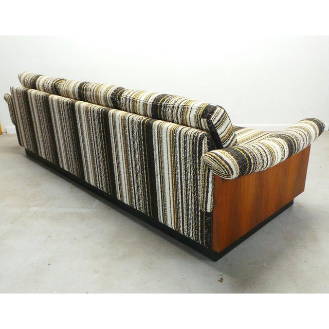 Mid Century Boho Modern Walnut Milo Baughman Style Sofa For Sale In Orlando - Image 6 of 8
