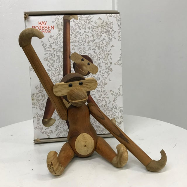 Mid-Century Danish Modern Teak and Ebony Articulated Monkey by Kay Bojensen For Sale - Image 9 of 9