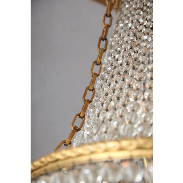 Gold Fine Bronze and Crystal Period Empire Chandelier For Sale - Image 8 of 10