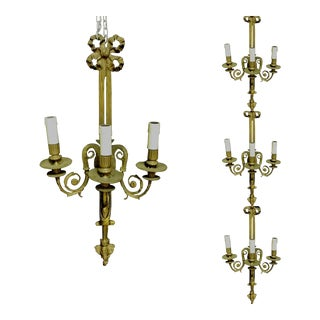 Set of 4 Candlesticks Baroque Wall Lights Sconce Wall Light 1930 S For Sale