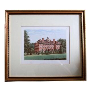 "1880 English Traditional Estate Print, ""Tyttenhanger Park"" For Sale"