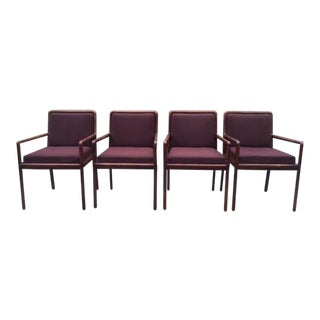 1970s Vintage Ward Bennett Armchairs- Set of 4 For Sale
