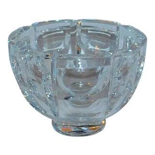 Vintage Orrefors Paneled Bowl For Sale