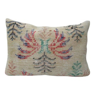 Turkish Floral Vintage Handmade Pillow Cover - 24ʺW × 16ʺH For Sale