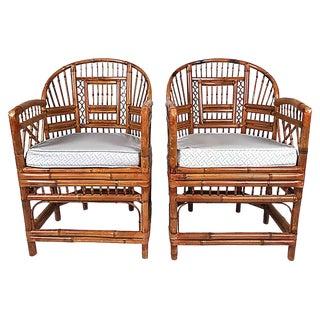 Rattan Brighton Chairs, Pair For Sale