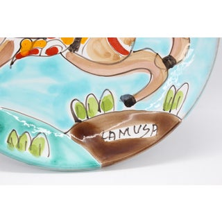 1950s Folk Art La Musa Hand-Painted Sicilian Decorative Plate Preview