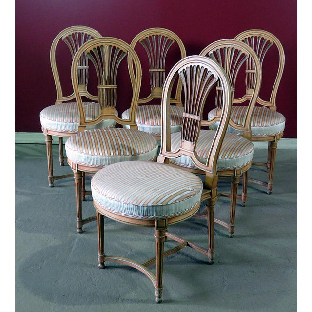 Louis XV Style Dining Side Chairs - Set of 6 For Sale - Image 10 of 10