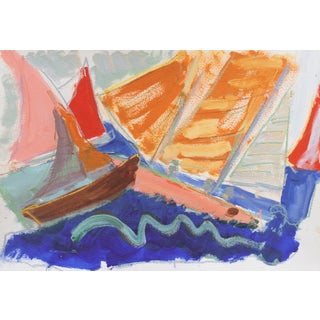 'Sailing Off Monterey' by Robert Canete, California Expressionist For Sale