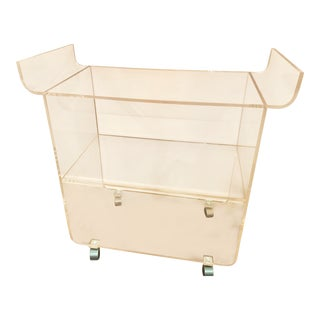 Plexi-Craft Mid-Century Modern Lucite Bar Cart For Sale