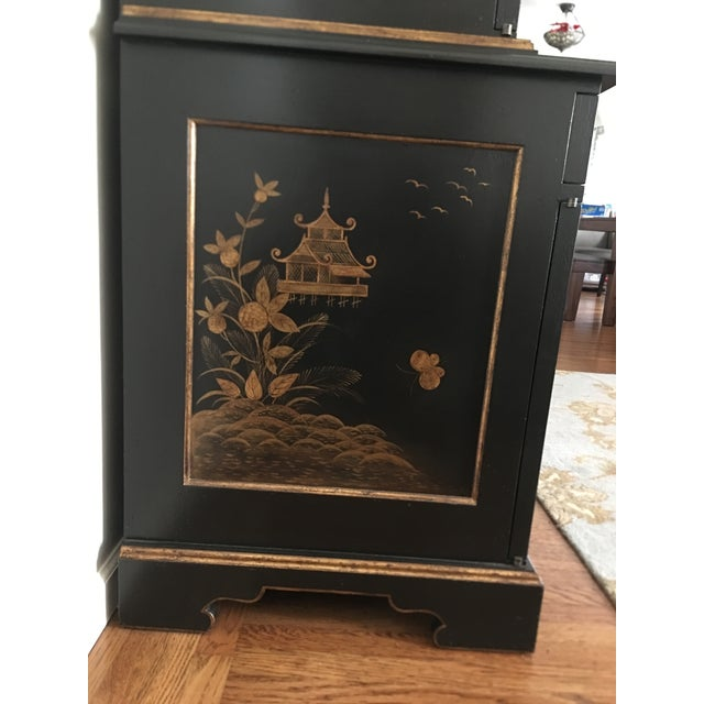 Gold Leaf John Hall Designs Chinese Chippendale Cupboard For Sale - Image 7 of 11