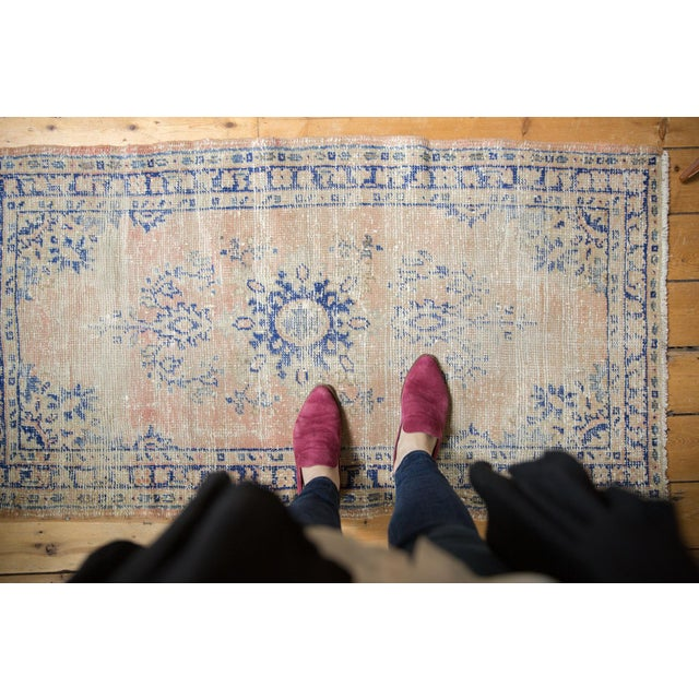 """Old New House Vintage Distressed Oushak Rug Runner - 2'7"""" X 4'9"""" For Sale - Image 4 of 12"""