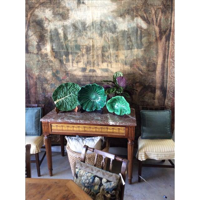 Ceramic Vintage Portugese Green Lettuce Bowl For Sale - Image 7 of 9