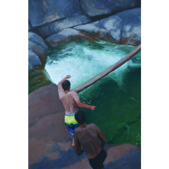 Contemporary Vermont Swimming Hole Contemporary Painting by Stephen Remick For Sale - Image 3 of 12