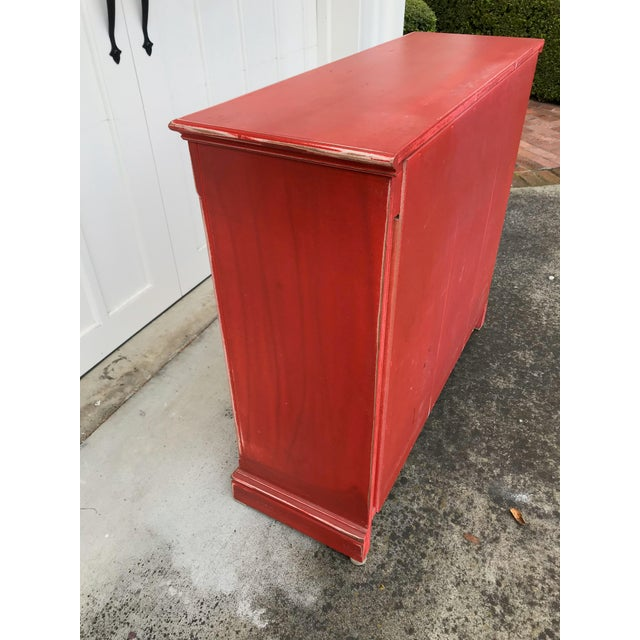 2000 - 2009 Rustic Red Beadboard Interior Cabinet For Sale - Image 5 of 7