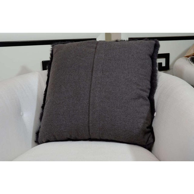Anthracite Lapan (French Rabbit) pillows with heather wool backing.