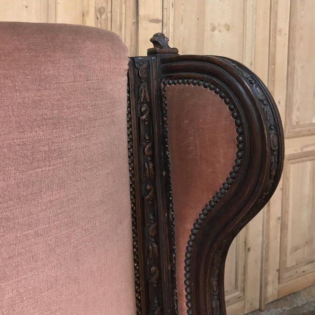 19th Century French Louis XVI Grand Armchair ~ Bergere For Sale In Dallas - Image 6 of 11