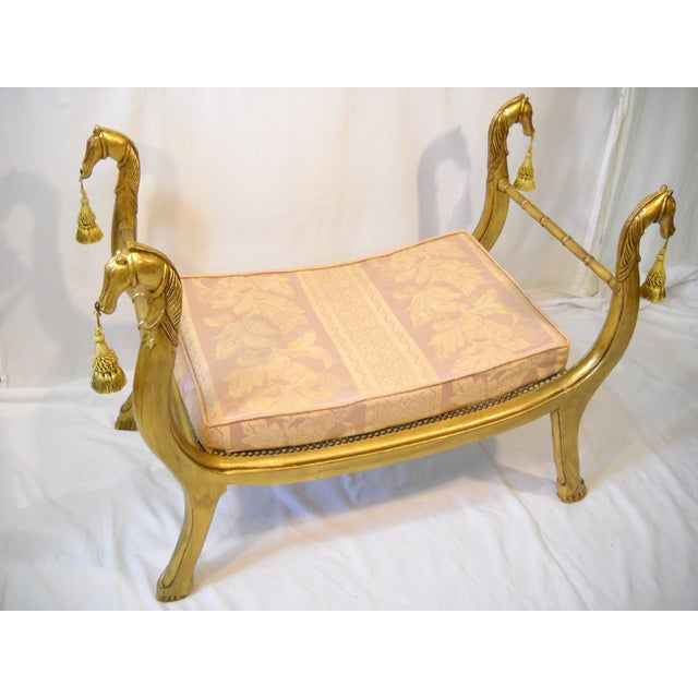 Gilded Horses Window Bench - Image 4 of 10