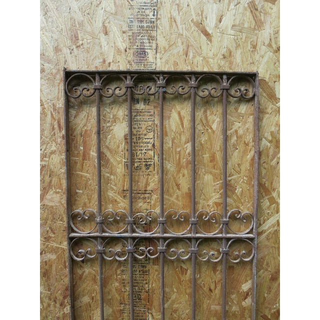 Antique Victorian Iron Gate Window Garden Fence Architectural Salvage - Image 3 of 6