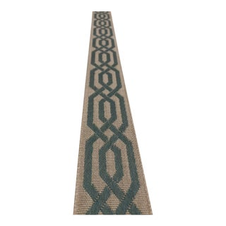 Classical Elements Modern Teal and Taupe Lattice Band Fabric Trim - 40 Yards For Sale