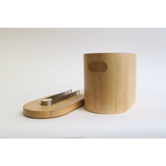Modern Wooden Ice Bucket For Sale - Image 5 of 5