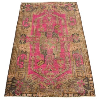 Early 20th Century Antique Samarkand Khotan Handmade Rug - 5′4″ × 9′1″ - Size Cat. 5x8 6x9 For Sale