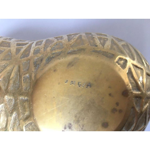 F. B. Rogers Decorative Brass Peanut Box Container For Sale - Image 9 of 11