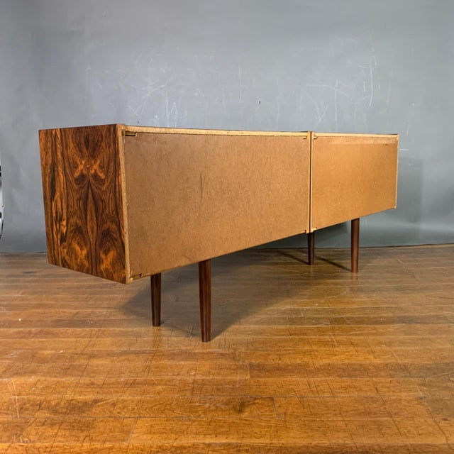 Peter Sorenson Double Low Rosewood Credenza, Denmark 1950s For Sale - Image 10 of 11