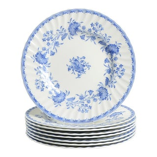 1940s Minton Hardwicke Hall Luncheon Plate - Set of 8 For Sale