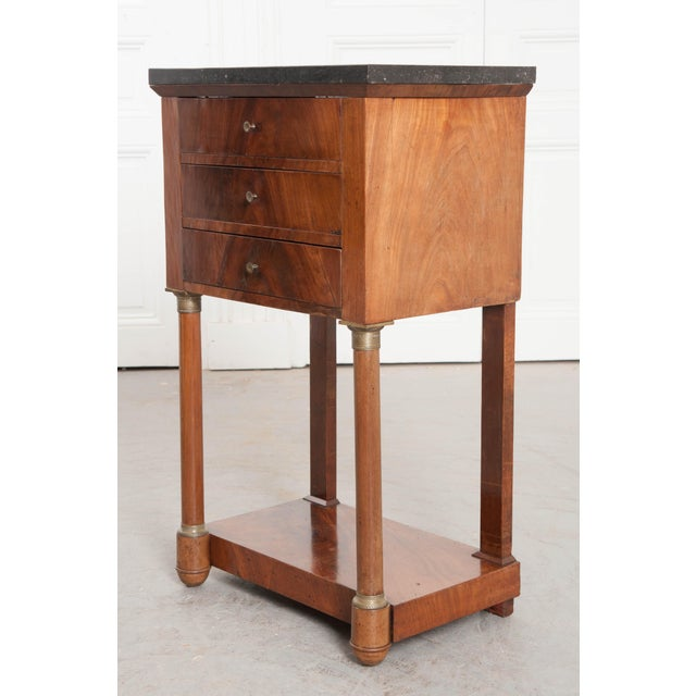 Early 20th Century 20th Century French Empire Style Mahogany Bedside Table For Sale - Image 5 of 9