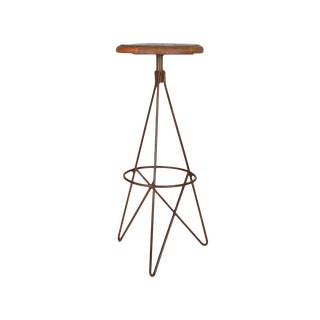 Corvin Iron & Wood Bar Stool For Sale